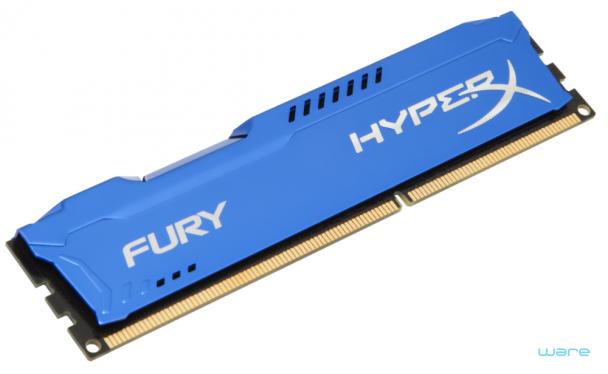 2 módulos (8Gb) – DDR3 HyperX 4GB 1333MHz CL9 FURY Blue Series